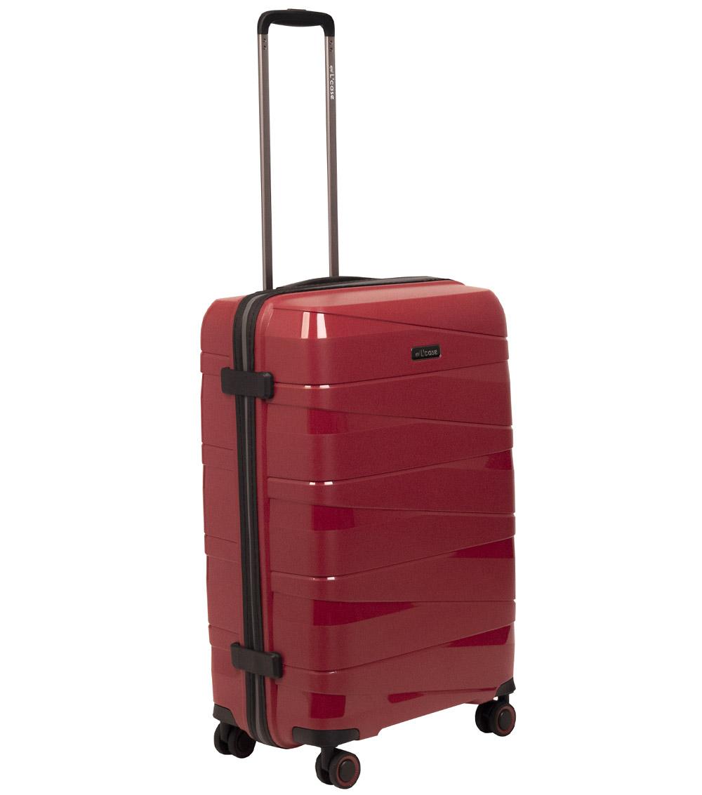Малый чемодан L-case Prague red ~ручная кладь~