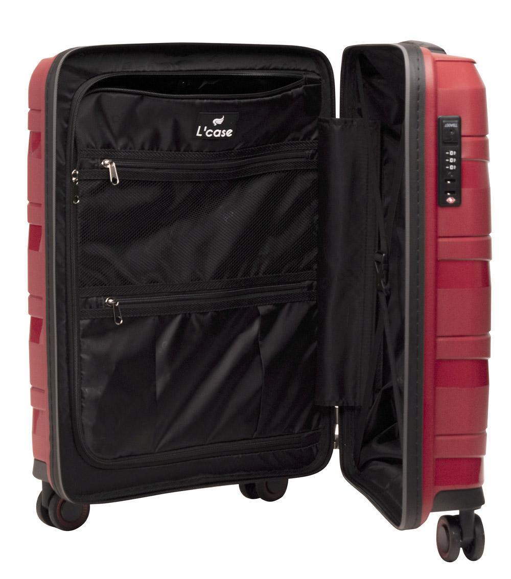 Средний чемодан L-case Prague red