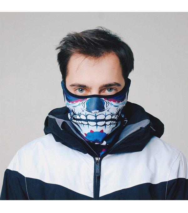Бандана-шарф PRIMO Original Muerto-Skull-Blue
