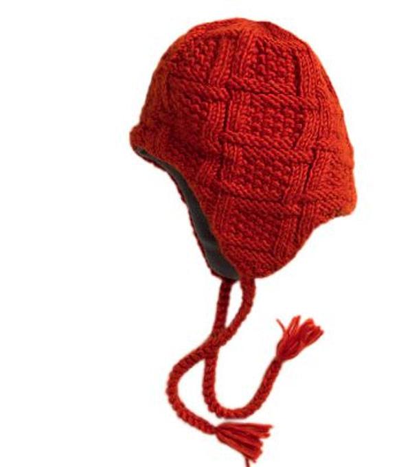 Шапка с косичками RedFox Polyline III red