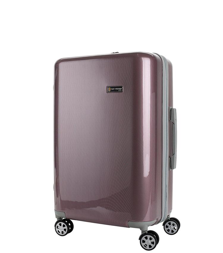 Средний чемодан Global Case Elit SV038-АC066-24 - бордовый