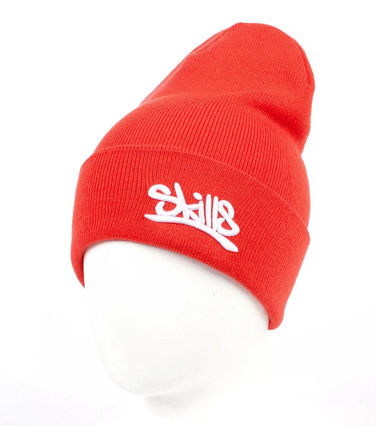 Красная шапка Skills Script red
