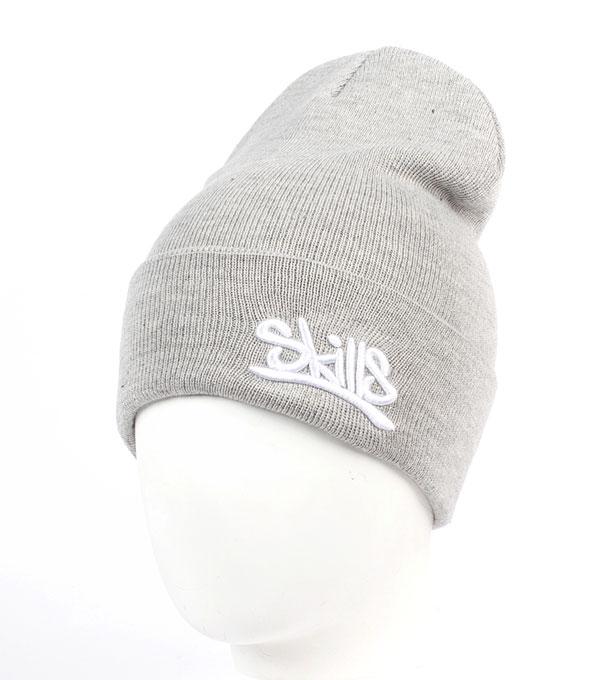 Серая шапка Skills Script Grey