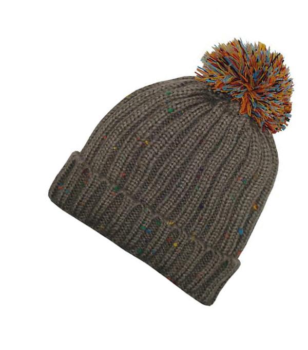 Зимняя шапка с помпоном Soul-Hats grey