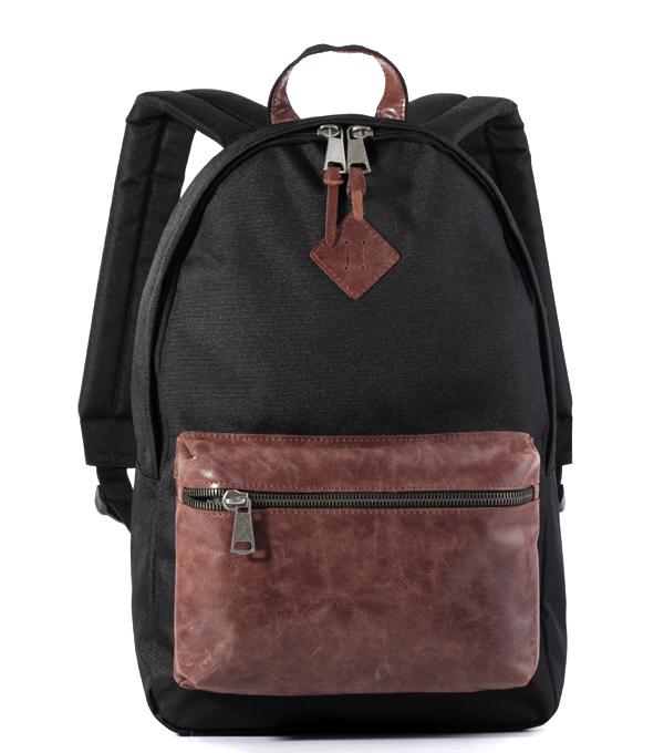 Рюкзак Studio58 M310 черный с кожаным карманом