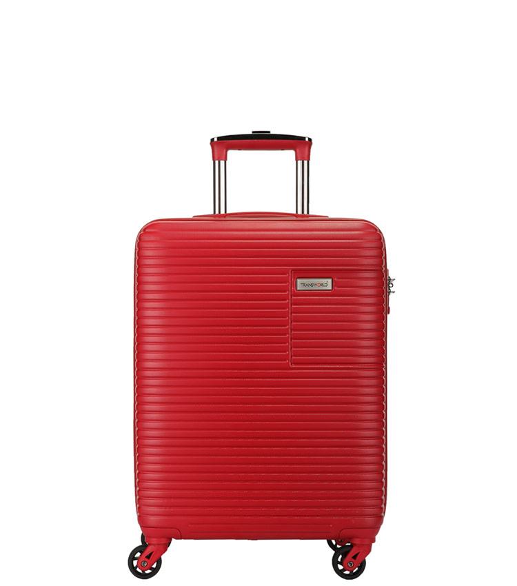 Малый чемодан спиннер Transworld 17147 red (55 см)
