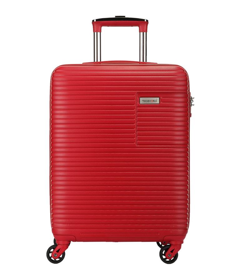 Средний чемодан спиннер Transworld 17147 red (67 см)