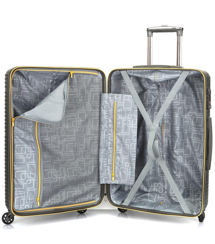 Большой чемодан спиннер Transworld 17147 red (77 см)
