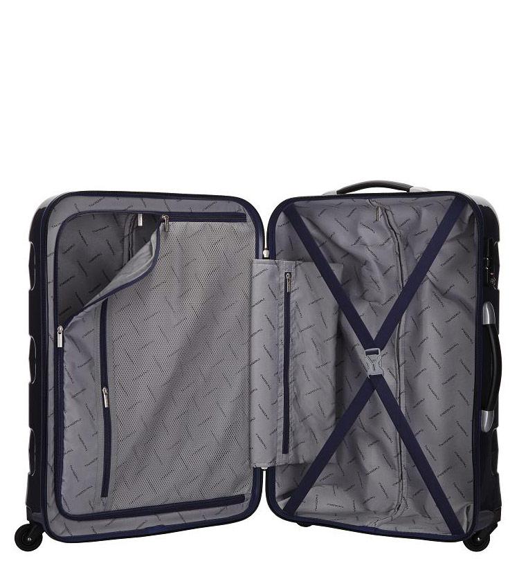 Средний чемодан спиннер Transworld 17192 pink (69 см)