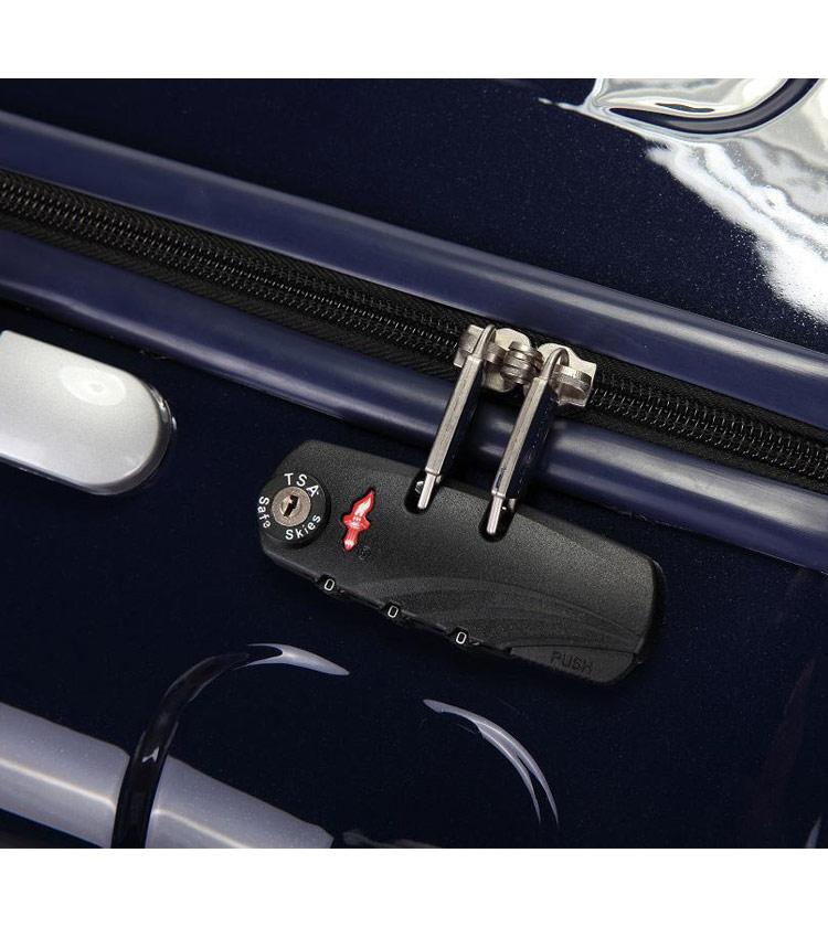 Средний чемодан спиннер Transworld 17192 night-blue (69 см)