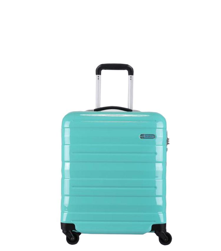Малый чемодан спиннер Transworld 17192 green (54 см)