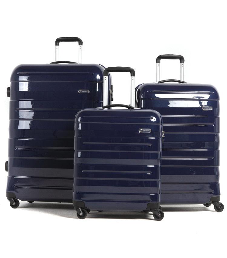 Малый чемодан спиннер Transworld 17192 pink (54 см)