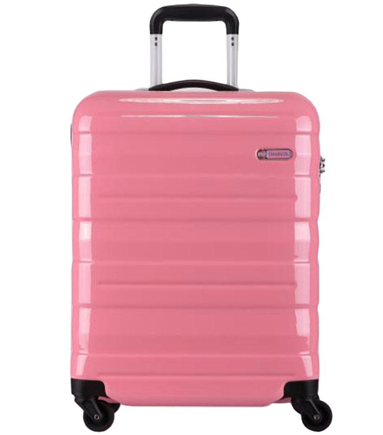 Большой чемодан спиннер Transworld 17192 pink (78 см)