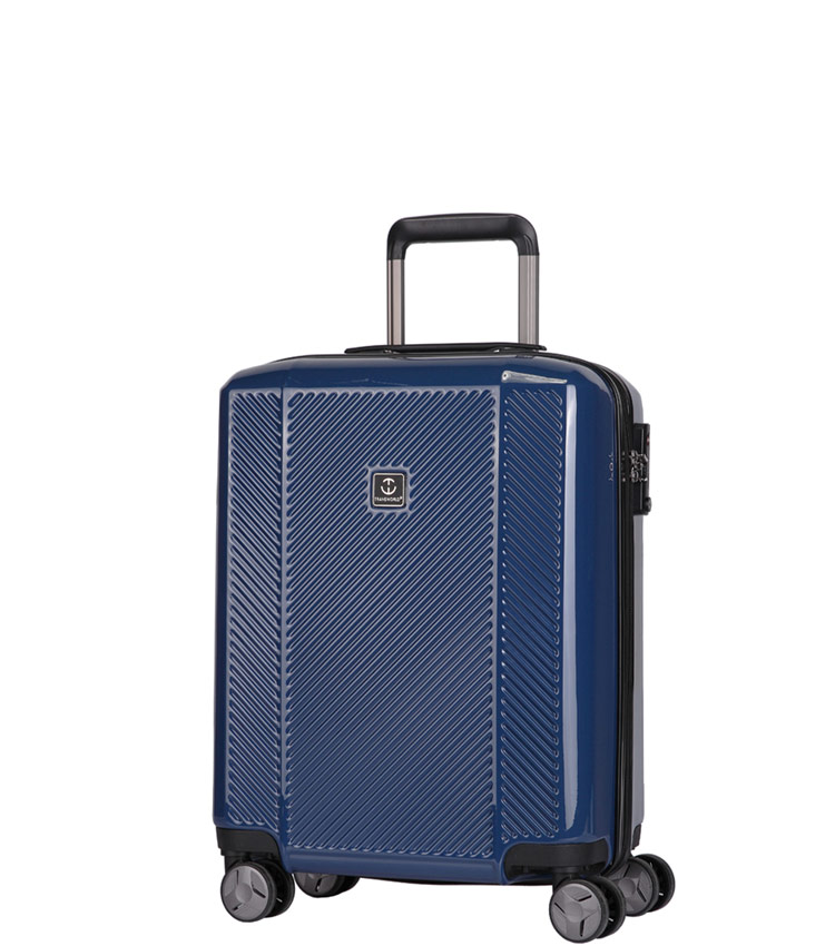 Малый чемодан спиннер Transworld 17230 blue (54 см)