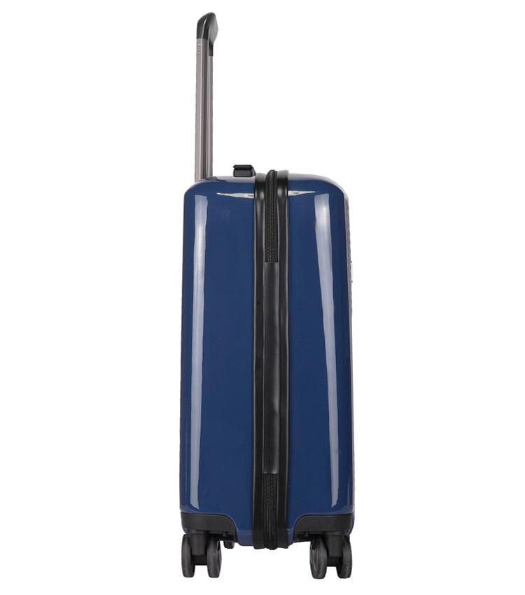 Средний чемодан спиннер Transworld 17230 blue (66 см)