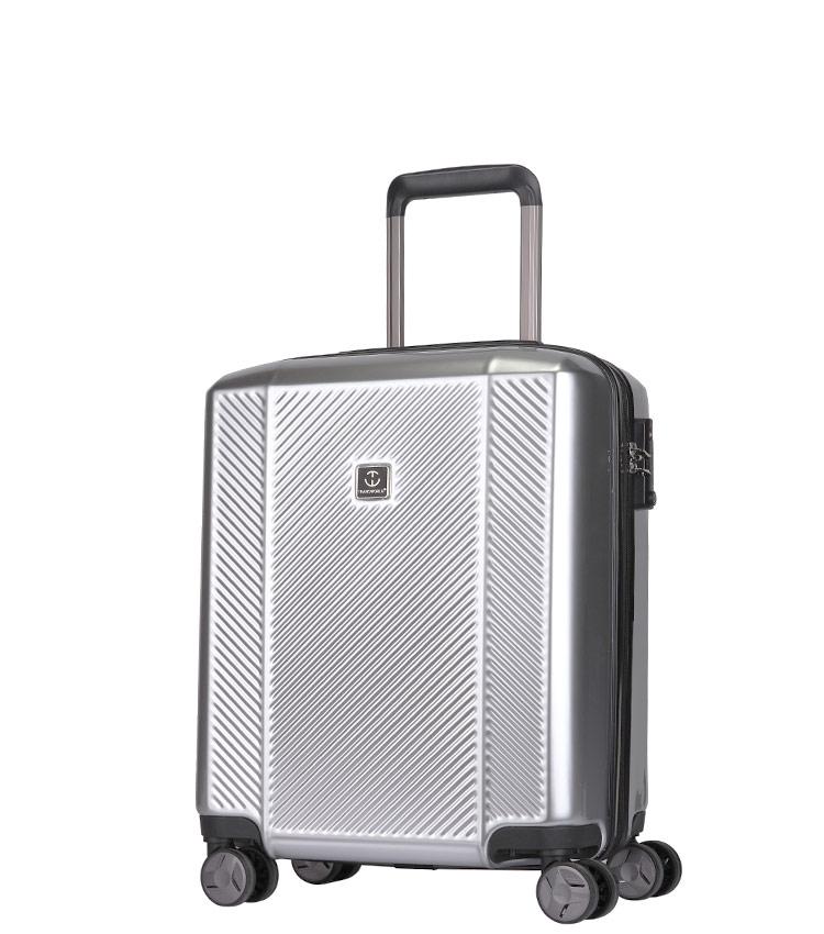 Малый чемодан спиннер Transworld 17230 silver (54 см)