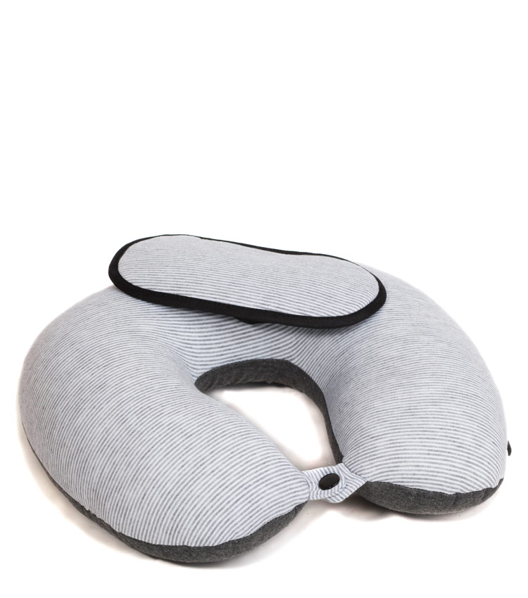 Дорожная подушка Travel Pillow Stripes light gray strip