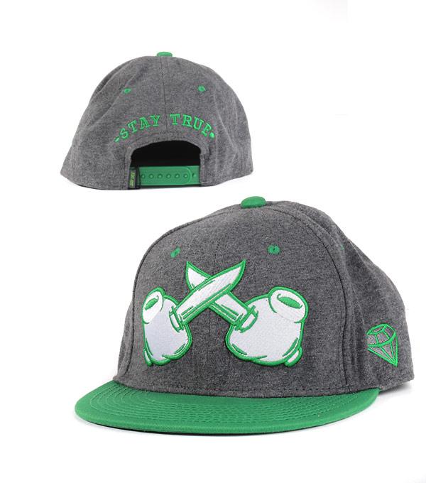 Бейсболка TrueSpin grey-m green