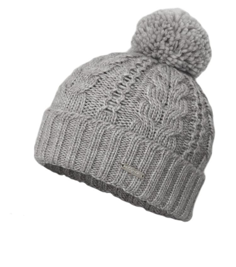 Женская шапка с помпоном WAG PB17 grey