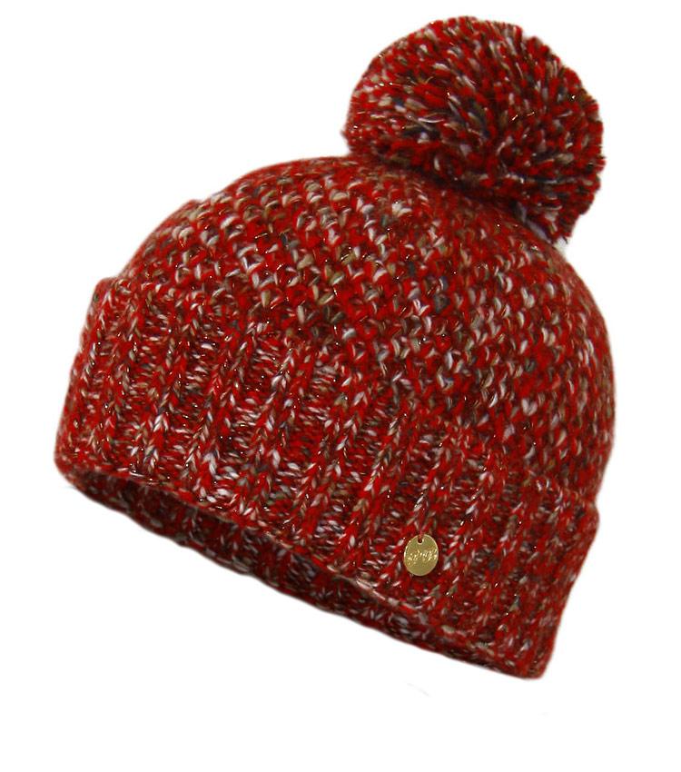 Вязаная женская шапка WAG PB3 red