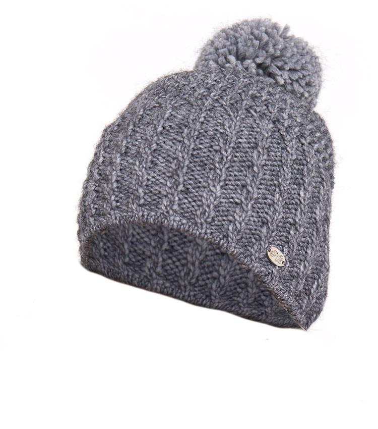 Женская шапка с помпоном WAG PB55 grey
