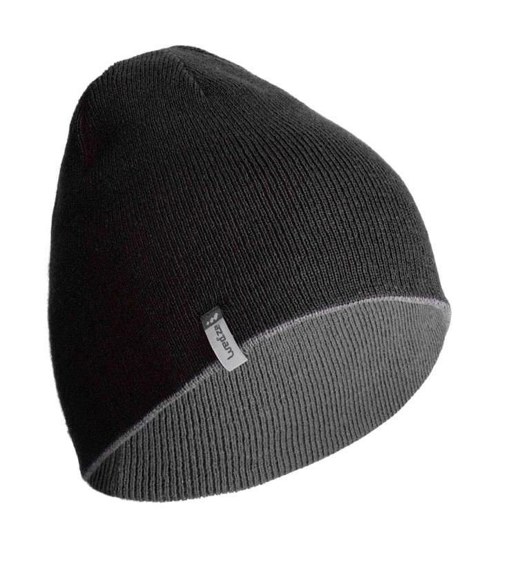 Шапка двухсторонняя WEDZE REVERSE black-grey