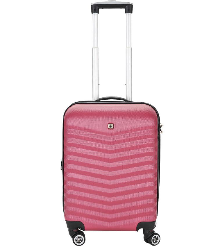 Малый чемодан спиннер Fribourg WENGER red-pink SW32300152 (54 см)