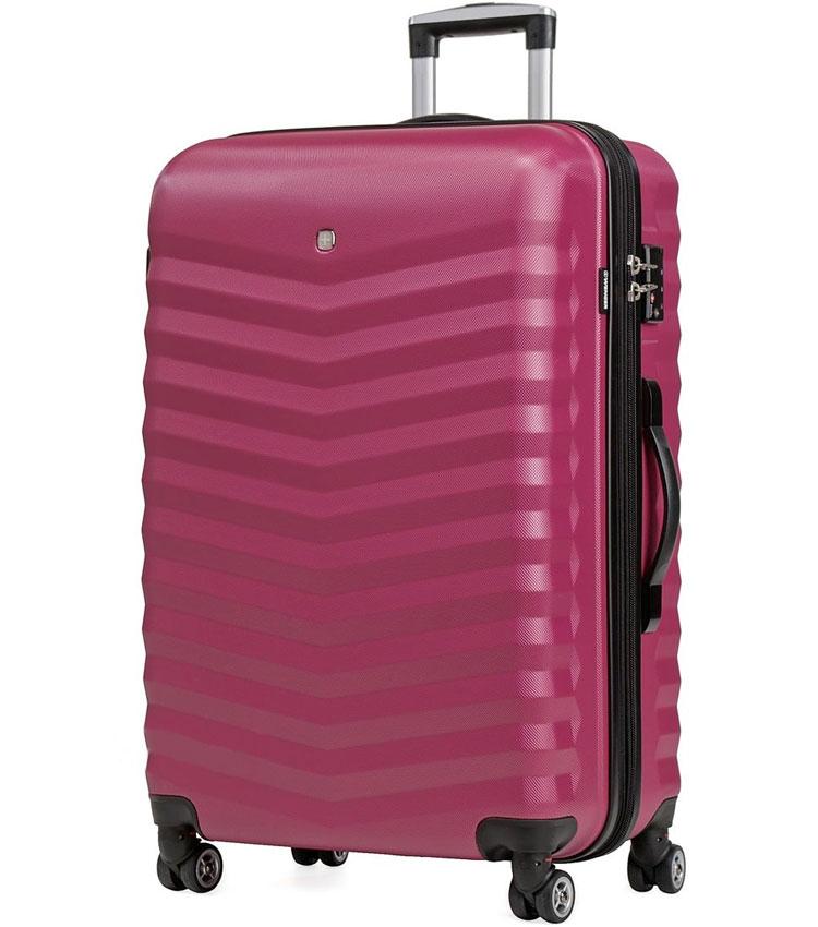 Большой чемодан спиннер Fribourg WENGER red-pink SW32300177 (77 см)