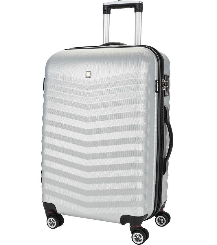 Средний чемодан спиннер Fribourg WENGER silver SW32300467 (67 см)