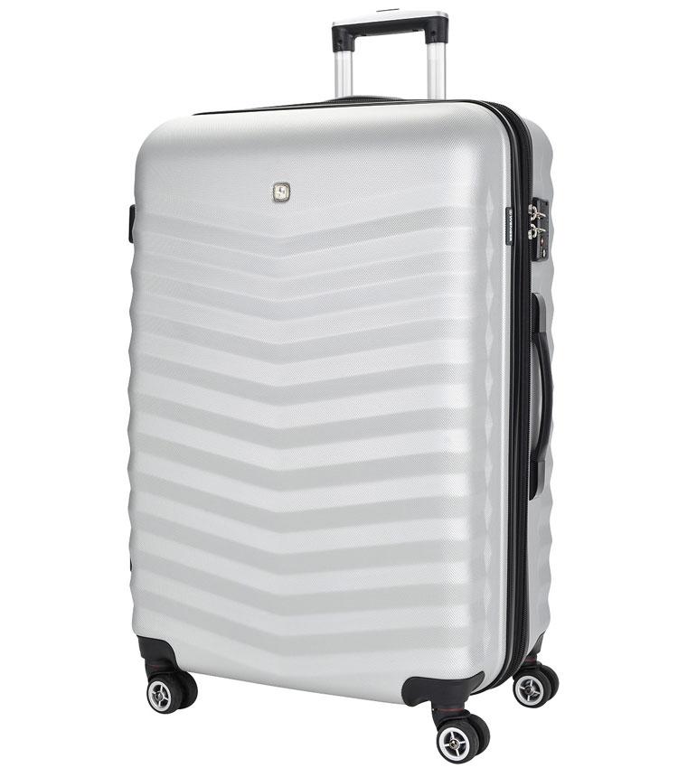 Большой чемодан спиннер Fribourg WENGER silver SW32300477 (77 см)