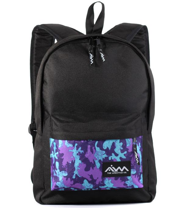 Рюкзак Aim Classic Spot purple-black