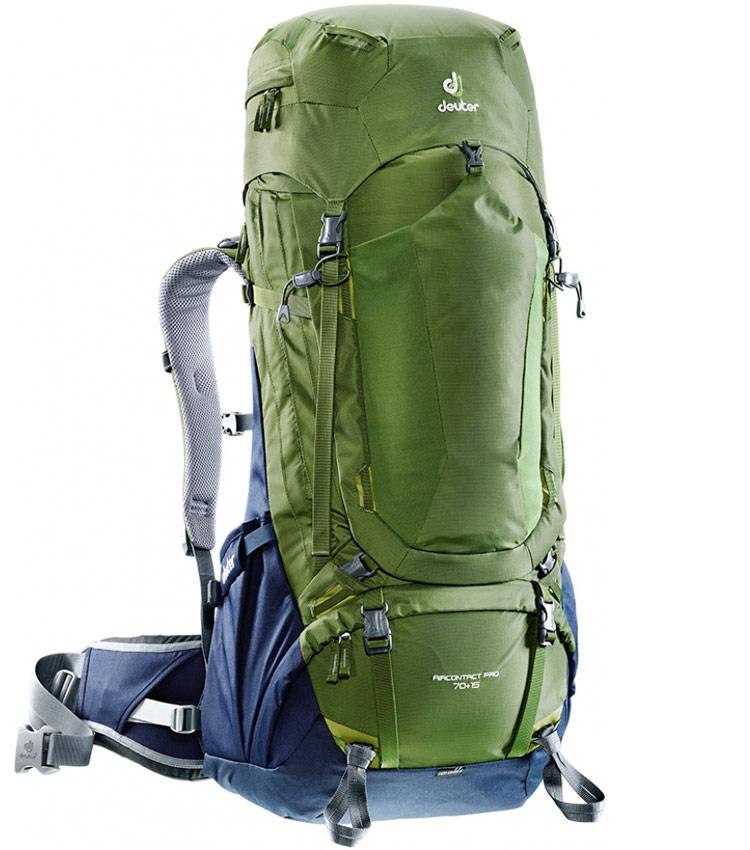 Туристический рюкзак Deuter Aircontact PRO 70 +15 pine-navy