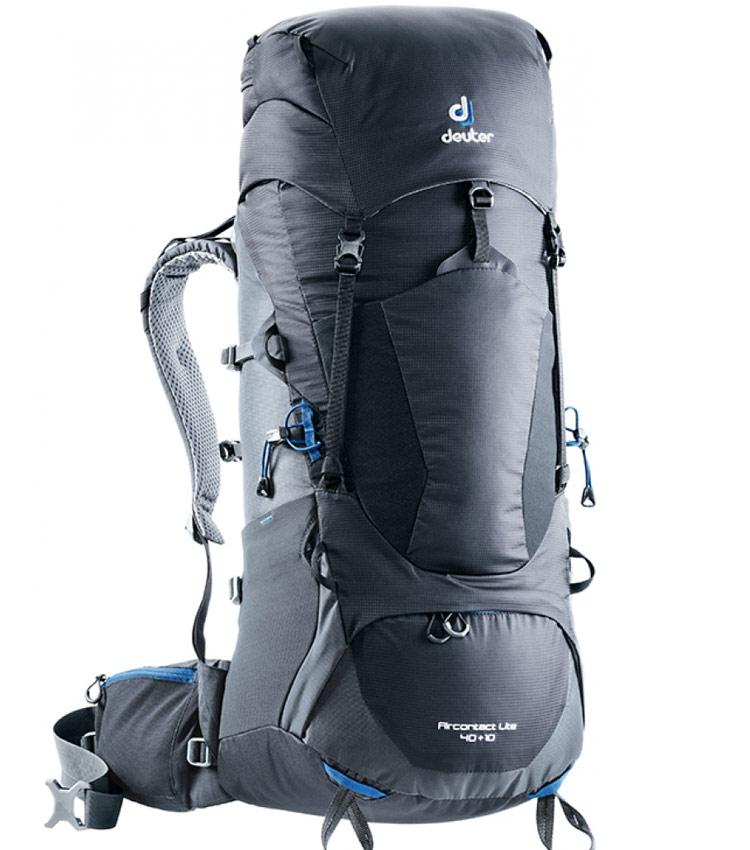 Туристический рюкзак Deuter Aircontact Lite 40+10L black-graphite