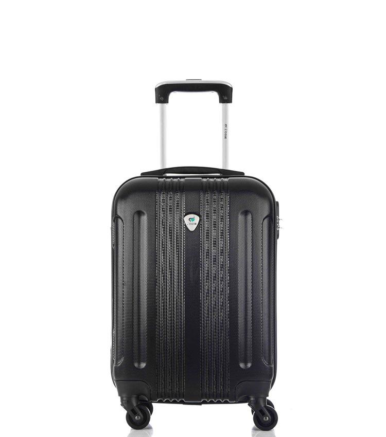 Малый чемодан спиннер Lcase Bangkok black (55 см ~ручная кладь~)