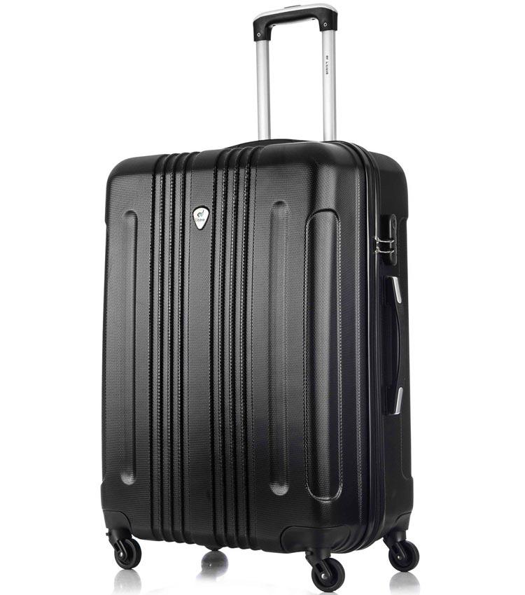 Средний чемодан спиннер Lcase Bangkok black (63 см)