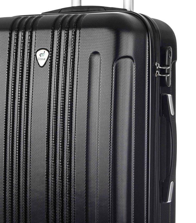 Большой чемодан спиннер Lcase Bangkok black (72 см)