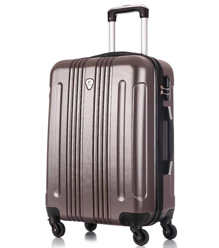 Средний чемодан спиннер Lcase Bangkok coffe (63 см)