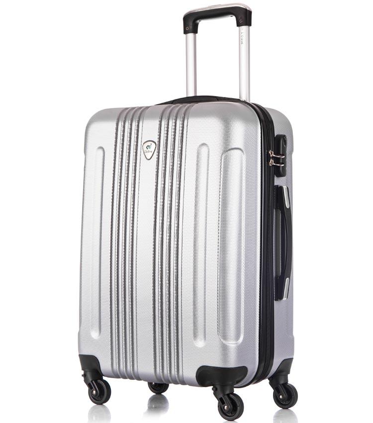 Средний чемодан спиннер Lcase Bangkok light-grey (63 см)