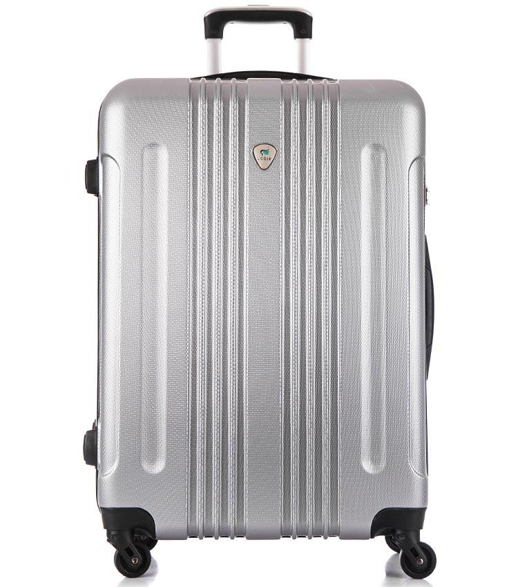 Большой чемодан спиннер Lcase Bangkok light-grey (72 см)