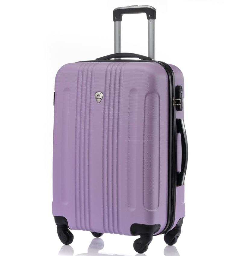 Средний чемодан спиннер Lcase Bangkok lilac (63 см)