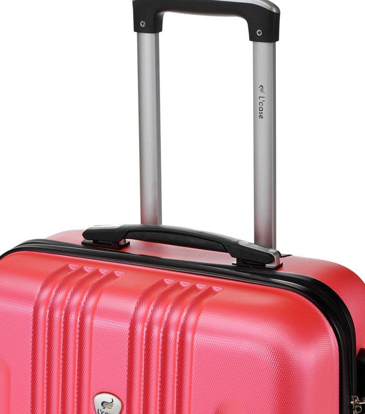 Большой чемодан спиннер Lcase Bangkok peach pink (72 см)