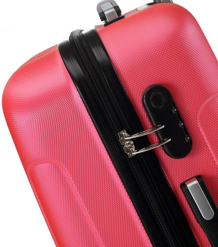Средний чемодан спиннер Lcase Bangkok peach pink (63 см)