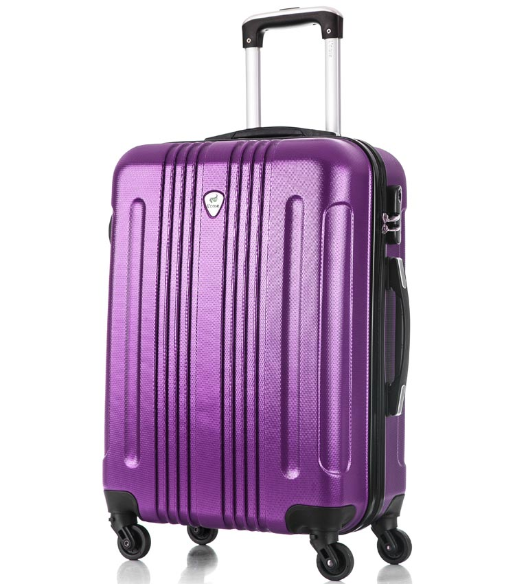 Средний чемодан спиннер Lcase Bangkok purple (63 см)