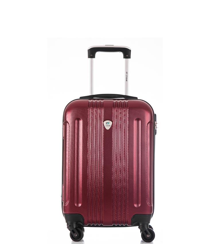 Малый чемодан спиннер Lcase Bangkok wine (55 см ~ручная кладь~)