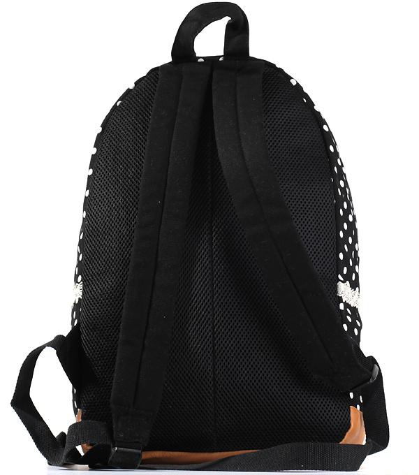 Женский рюкзак Bonjour черный с точками