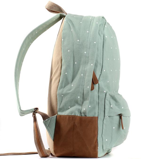 Женский рюкзак Bonjour dots мятный