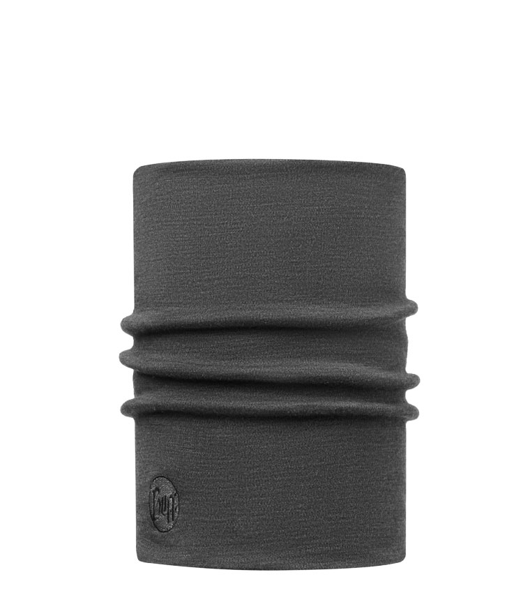 Теплый шарф-труба Buff Wool Heavyweight Merino Solid-grey