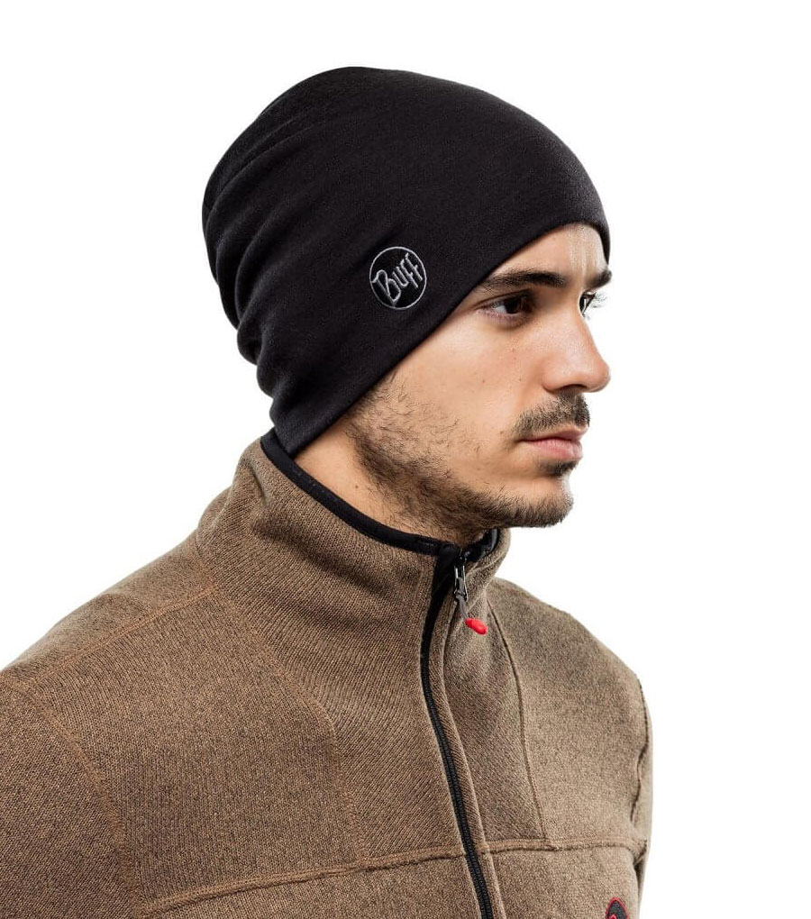 Шапка Buff Midweight Merino Wool Hat Solid Black