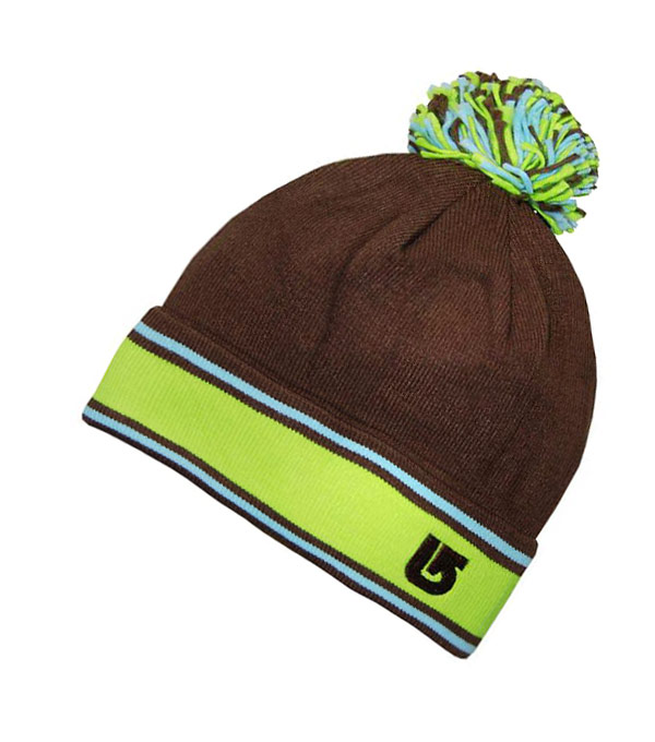 Зимняя шапка с помпоном Burton brown-green