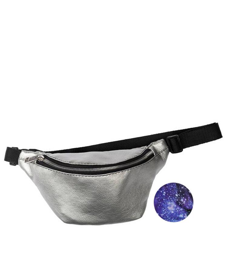 Поясная сумка мини Vokladki «Космос-сильвер»
